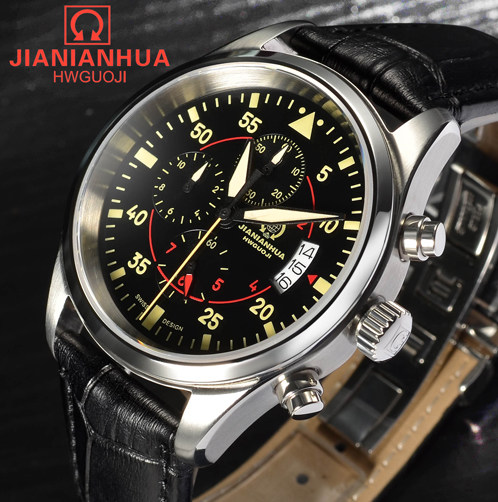 Military Leather Watch Automatic Self-Wind Mens Watches Top Brand Luxury Montre Automatique Homme Relogio Automatico Masculino skeleton men self wind leather mechanical automatic watch mens watches top brand luxury male clock relogio automatico masculino