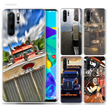 Greatest Peterbilt Trucks Case for Huawei P20 P30 P Smart Z Plus 2019 P10 P9 P8 Mate 10 20 lite Pro Silicone Phone Bags Coque(China)