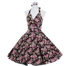 Pinup 50 s 60 s gran Swing Vintage Rockabilly Vestido Polka Dot impreso Floral Vestido de fiesta de graduación vestidos de fiesta Vestido