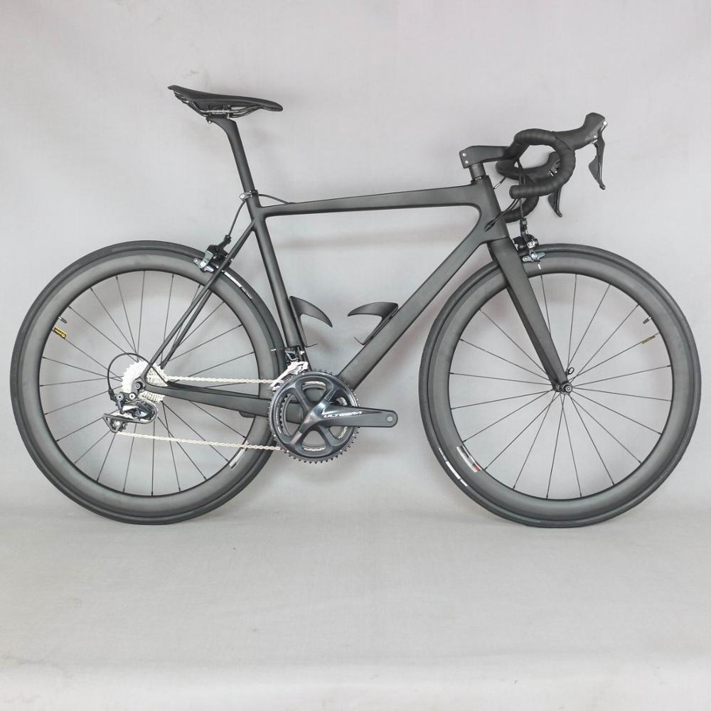 2019 Full Carbon Road Bike Complete Bicycle Carbon Cycling Road Bike With R8000 22 Speed Groupset