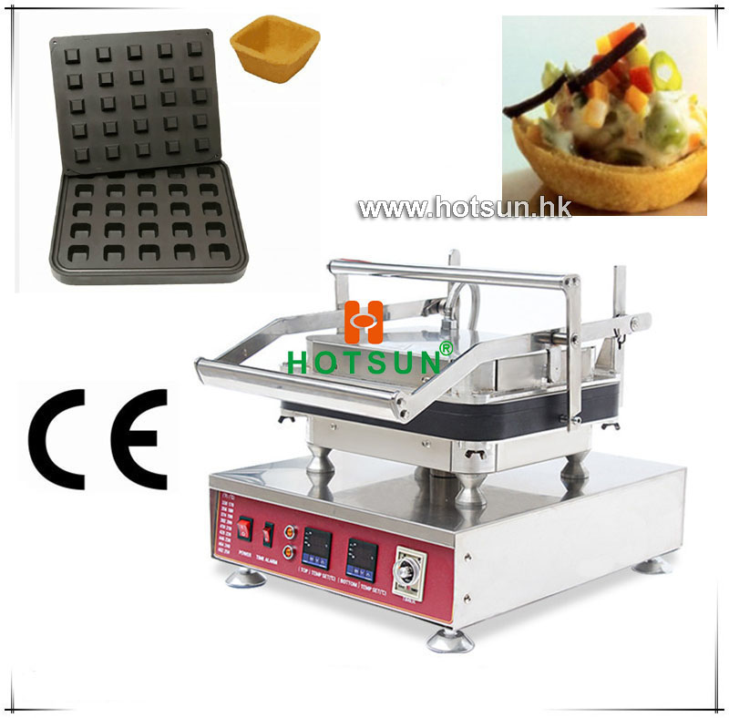 Free Shipping Heavy Duty Non-stick 110V 220V Electric 25pcs Fruits Square Box 4 Angles Waffle Maker Machine with Removable Plate commercial heavy duty non stick 220v electric ribbed