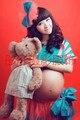 Adereços fotografia de maternidade para grávidas gravidez vestido de princesa animado Colorfull