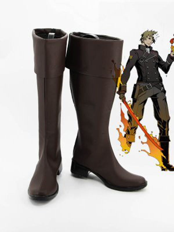 Unlight Firestarter Riesz Brown Halloween Cosplay Boots Shoes Game Party Cosplay Boots Custom Made for Adult Men Shoes