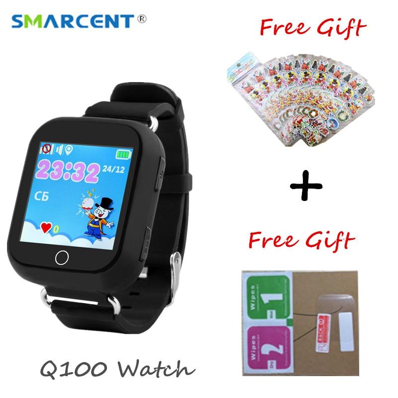 Q100 Garoto Relógio Inteligente GPS Wifi Baby Monitor Seguro Crianças Smartwatch SOS Rastreador de Posicionamento PK Q90 Q50 Q760