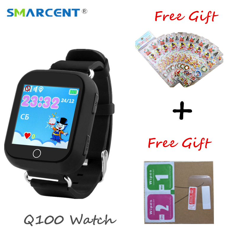 Q100 <font><b>Kid</b></font> Smart Watch GPS Wifi Positioning SOS Tracker Baby Safe Monitor Children <font><b>Smartwatch</b></font> PK <font><b>Q90</b></font> Q50 Q760 image