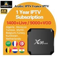 IPTV Arabic 4K France X96 mini TV Box 1 Year IPTV Code Algeria Belgium Turkey IPTV Subscription Netherlands Arabic France IP TV