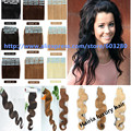 Fluffy and Elastic Body  Wave Tape in Human Hair Extensions in Skin Weft  Fashion Simple Curly Hair Style for You 50g 20pcs/set