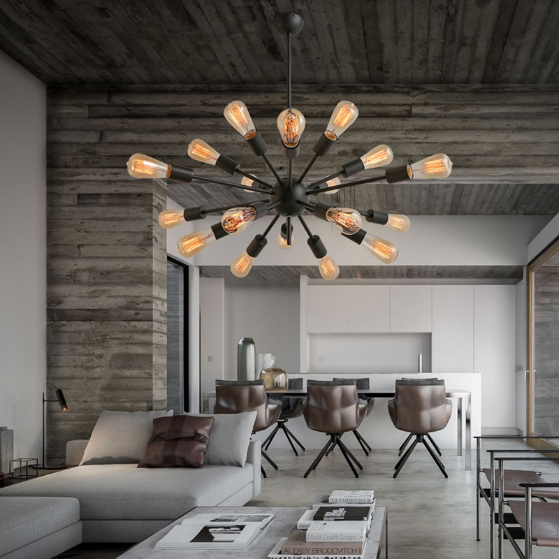 Industrial Retro Loft Led Pendant Lights Living Room Bedroom Dining Room Pendant Lamp Edison Bulb Parlor Hanging Light Fixtures|Pendant Lights| |  - title=