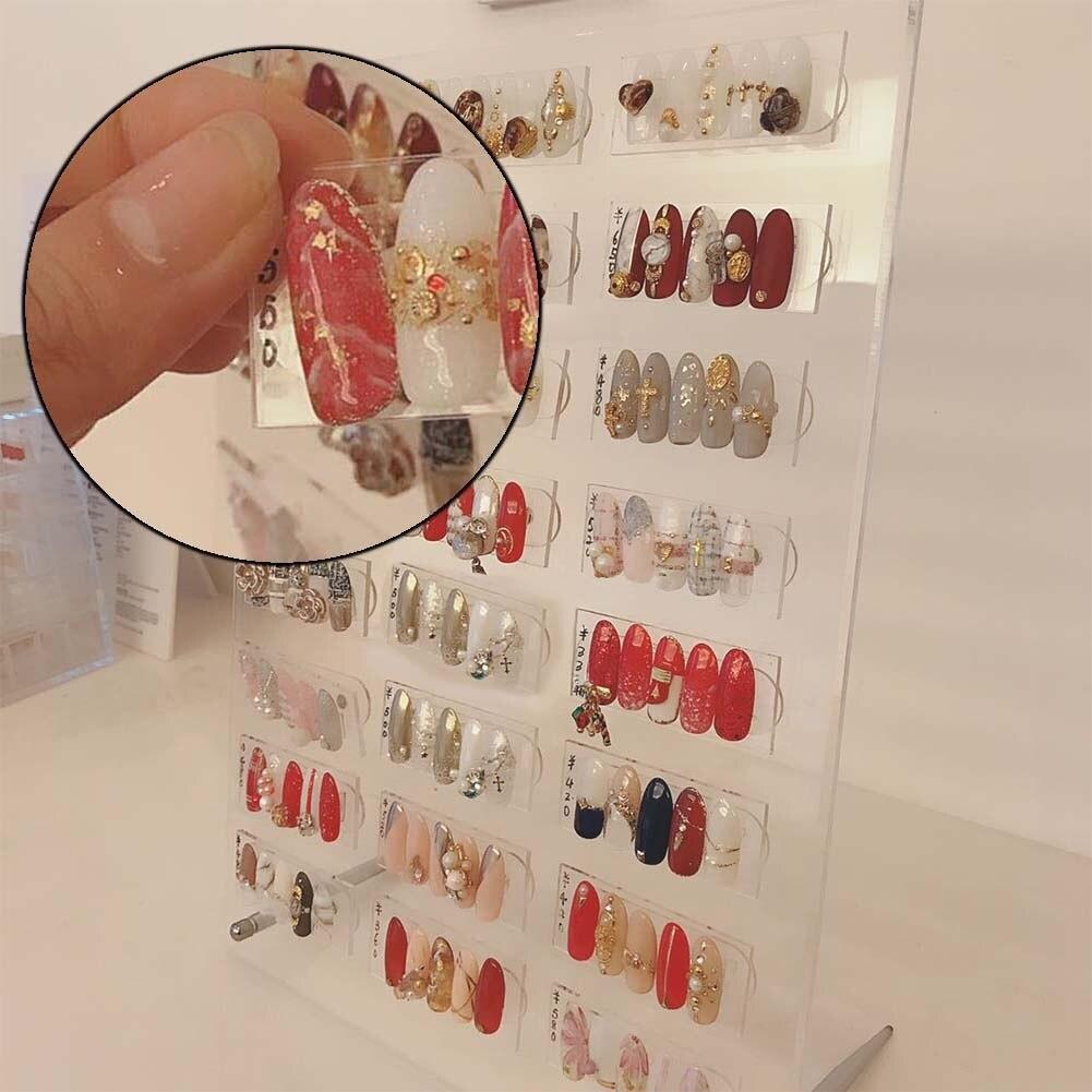Le dernier présentoir acrylique de stockage d'armure d'ongle de présentoir d'ongle d'aimant