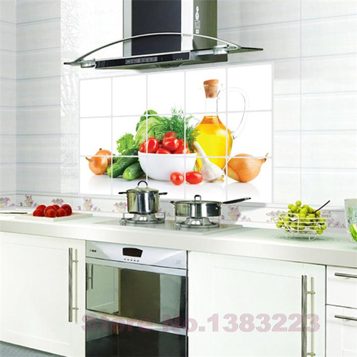 Aliexpress.com : Buy DIY Fruits And Vegetables Kitchen Vinyl Wall Stickers  Home Decor Bathroom Waterproof Sticker Wall Decals Home Decoration From  Reliable ...