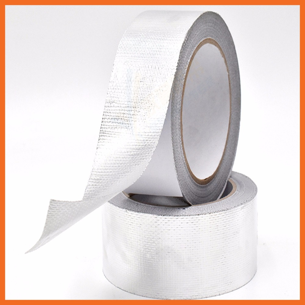 Aluminum foil tape high temperature resistant fiberglass cloth aluminum foil pipe thick waterproof sealing tape trap flame retar waterproof seam sealing tape roll satellite self amalgamating rubber sealing tape sealing cable repair lead