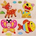 Развивающие Игрушки Животных Деревянные Детские Головоломки Животные Формы Зигзага 3D Головоломки Подарки Для Детей детские Игрушки Головоломки Perler Бисера Доска