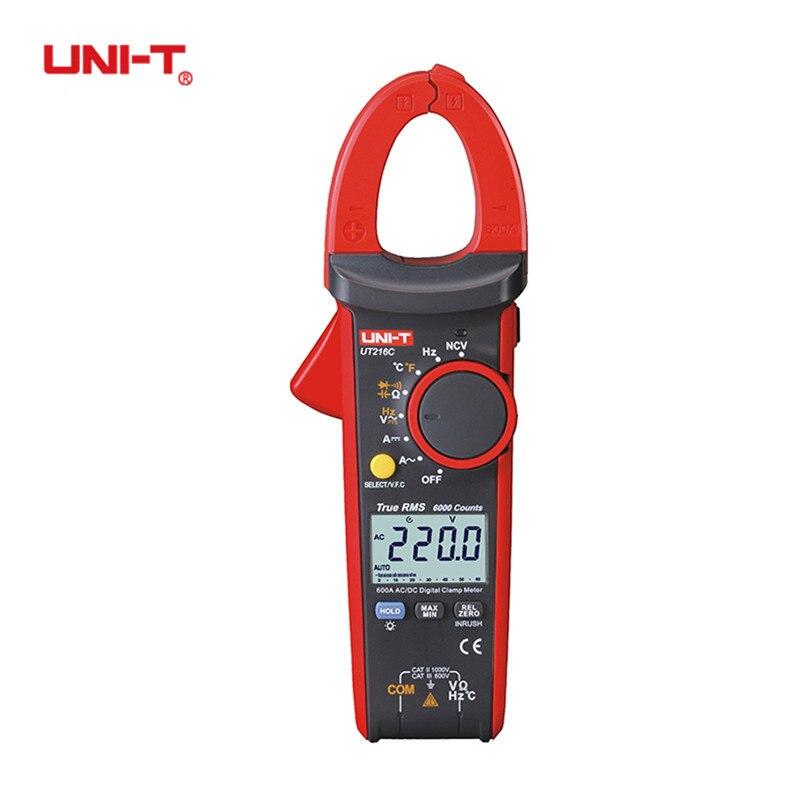 UNI-T UT216C 600A True RMS Digital Clamp Meters Auto Range Electric Multimeters Capacitance Temperature & NCV Test Megohmmeter