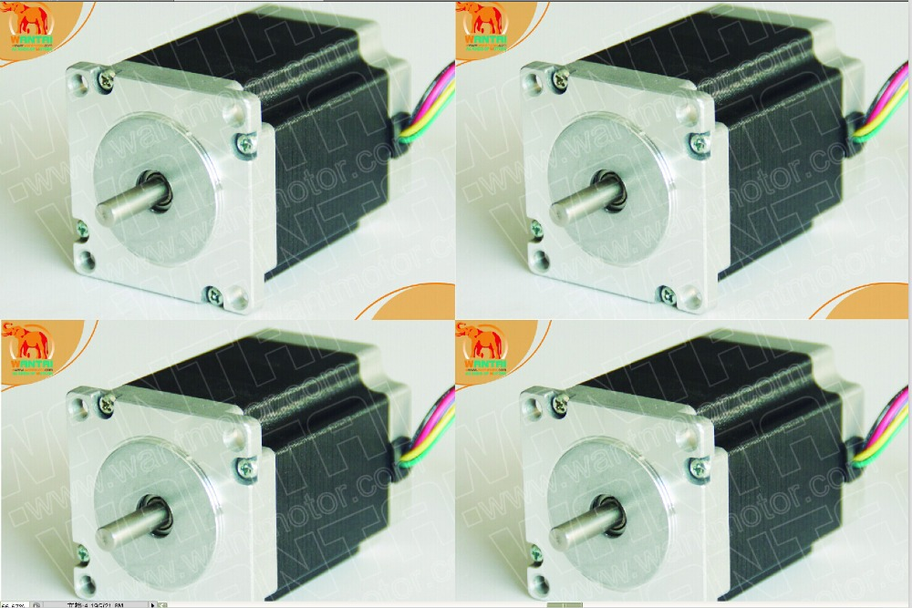 4PCS Wantai 3D Stepper Motor/Stepping motor, Nema 23 with 185oz-in, 2.0A, 56mm,6 leading wires,57BYGH420CNC Engraver, nema24 3nm 425oz in integrated closed loop stepper motor with driver 36vdc jmc ihss60 36 30
