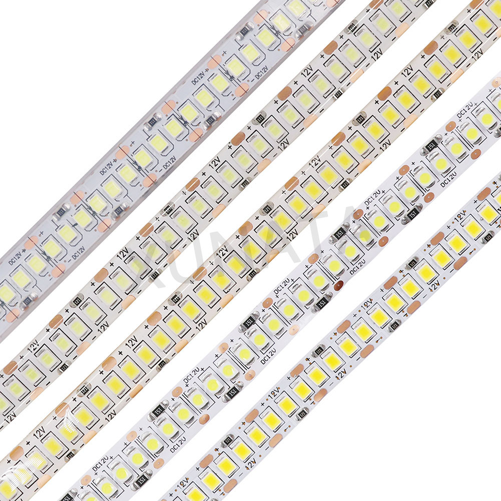 XUNATA LED Strip Light 5M 2835 SMD DC 12V 60/240LEDs/M Waterproof IP65 IP20 Flexible Ribbon String LED Lamp Lights Night Decor
