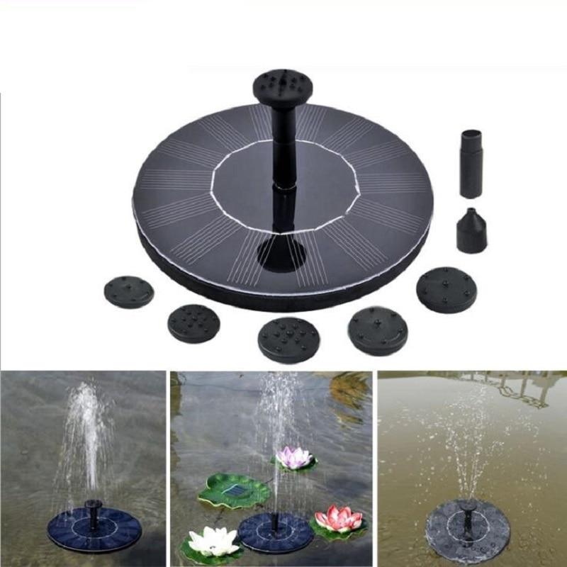 Neue Ankunft 7 v 200L/H Schwimm Solar Power Brunnen Solar Wasserpumpe Miniatur Sprinkler Garten Panel Kit Garten dekorationen