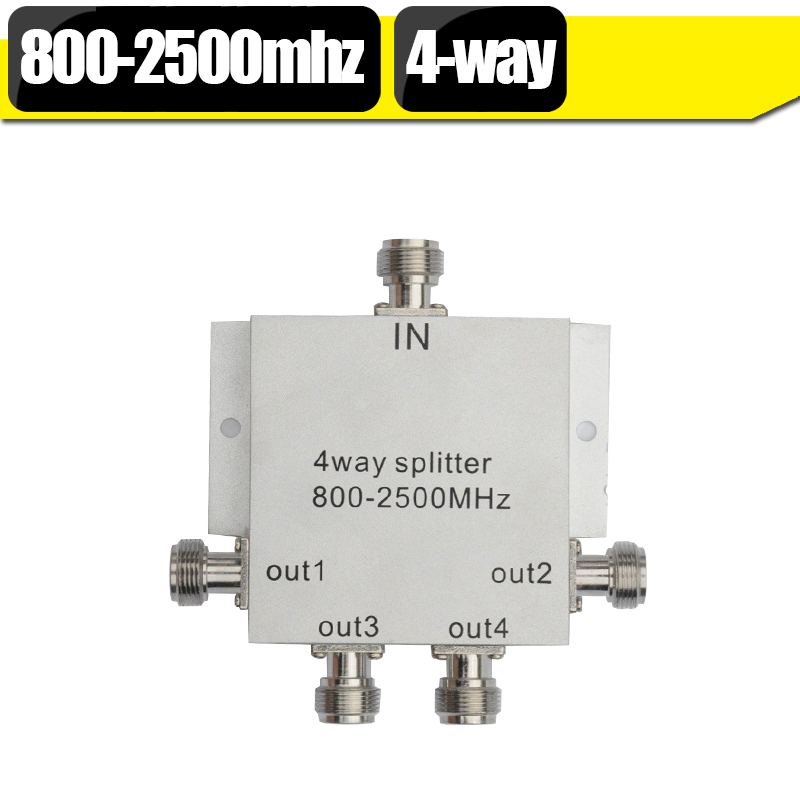 4 Way Power Splitter 800-2500mhz Low Loss Microstrip Power Divider For GSM 3G Cell Phone Signal Booster Repeater