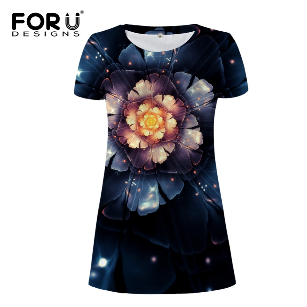 FORUDESIGNS Vintage Flower Prints Women Dress Summer Short Sleeved Dresses Vestidos Mujer For Ladies Sexy Dresses Maxi Cloth
