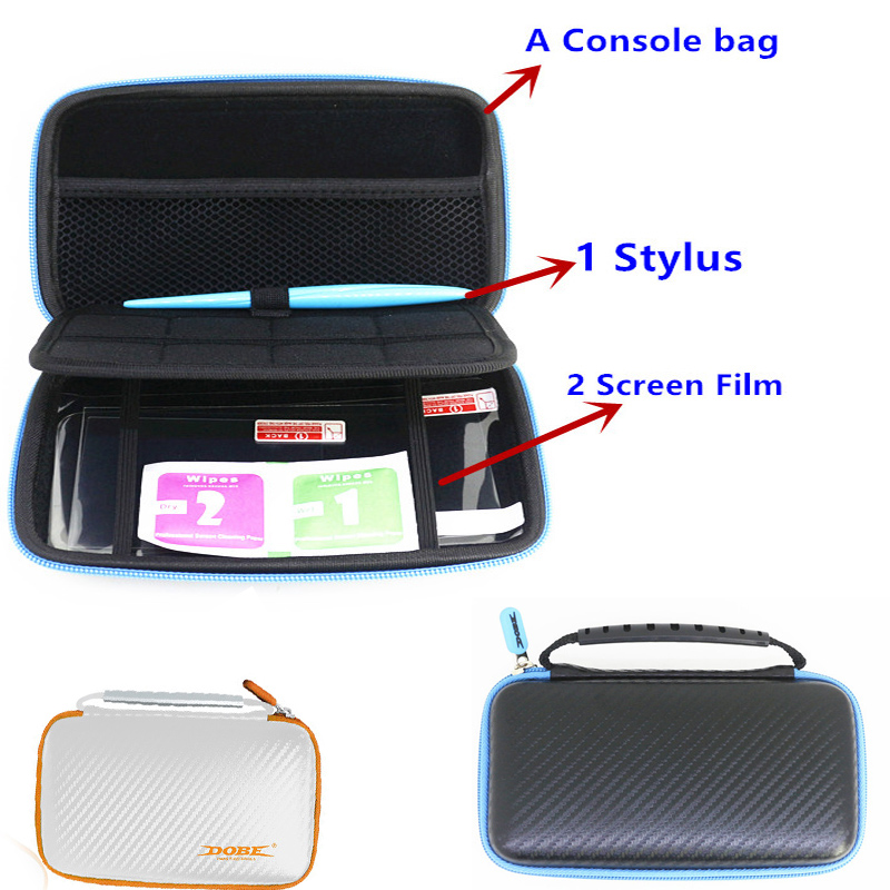 3 in 1 EVA Travel Storage Carring Bag case Pouch for Nintendo NEW 2DSLL New 2DS XL Protective Kit w/ Screen Film Stylus Pen