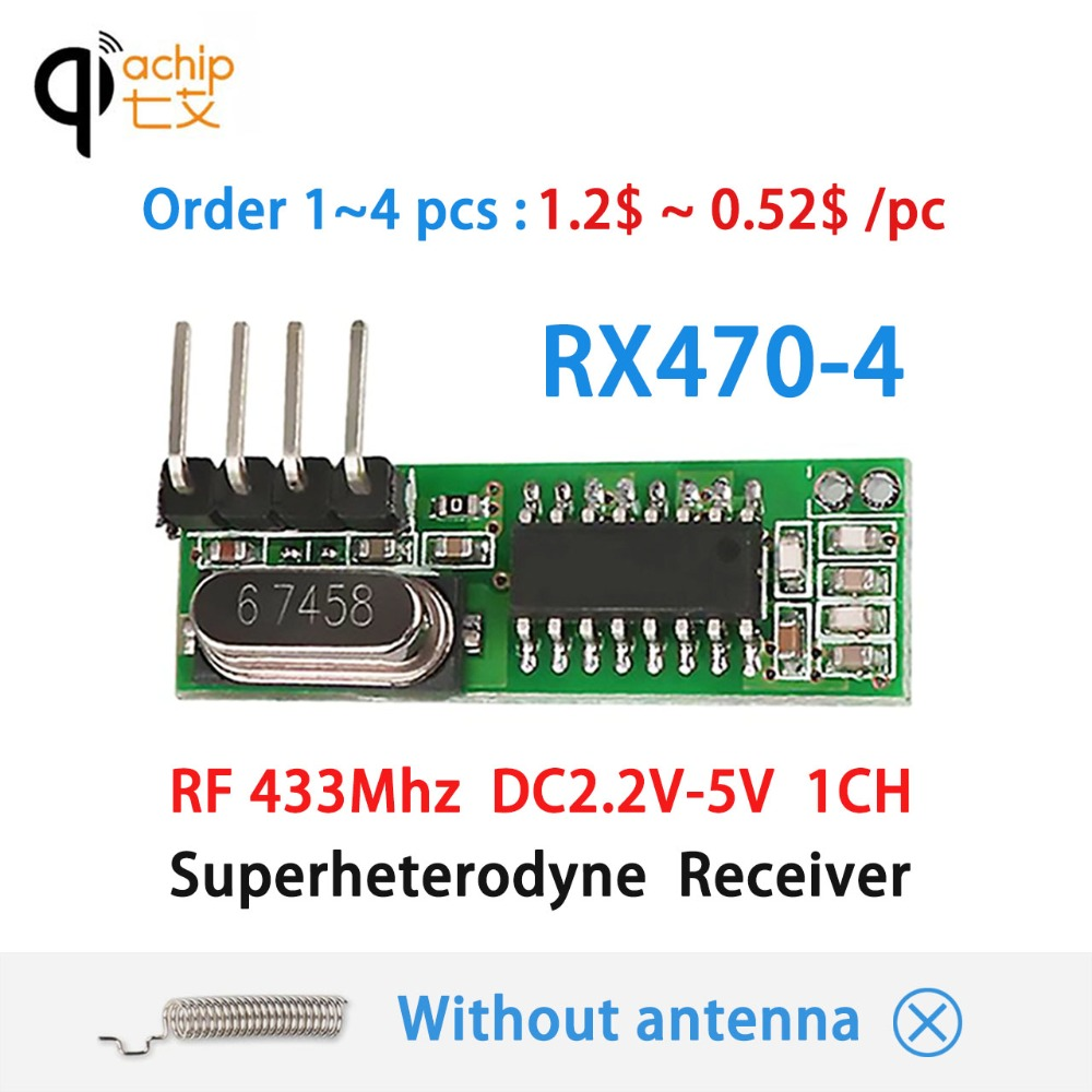 433mhz Rf Receiver Module Superheterodyne 43392mhz Ask Remote 4 Channel Transmitter Circuit Cy046 Buy Qiachip Ook Dc 1ch For Mcu Arm Arduino