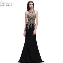 Robe de Soiree Longue Cheap Black Lace Mermaid Long Evening