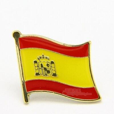 Национальный флаг металлический отворот штифт флаг штифт Испания