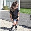 O menino roupas de algodão t-shirt com a t-shirt de manga comprida meninos crianças new tattoo sleeve tops primavera e outono roupas set CS102