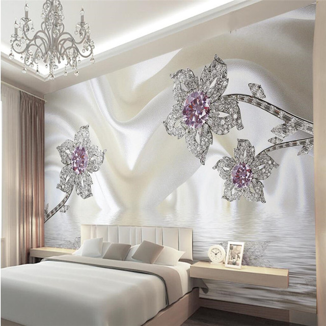 Marvelous Wallpapers Home Decor Photo Background Wall Paper Living Room Photography  Diamond Hotel Bathroom Large Wall Art