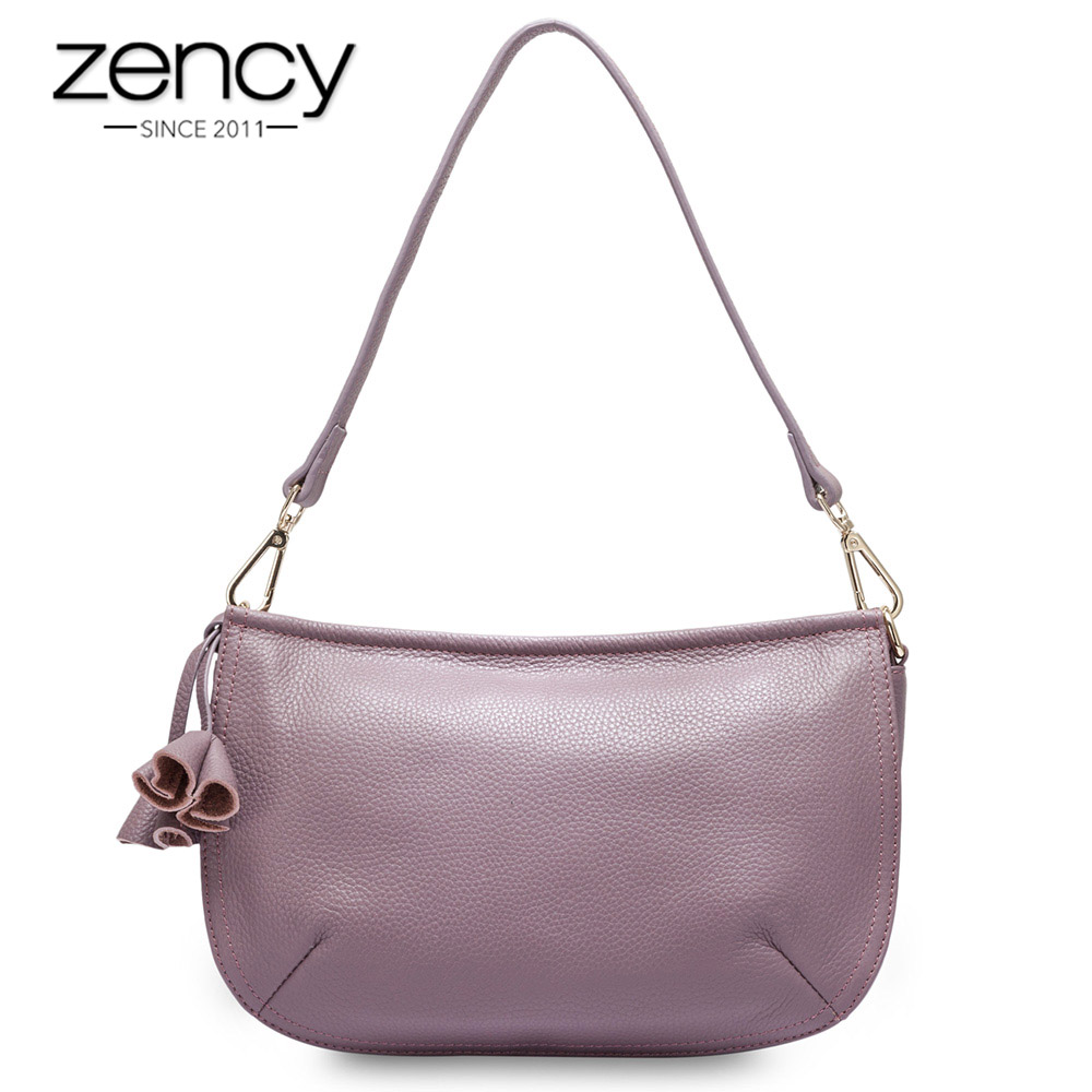 Zency Small Women Shoulder Bag The First Layer Cow Leather Genuine Fashion Charm Ladies Messenger Bag bolso hombro las mujeres women shoulder bag cossbody handbag genuine first layer of cow leather 2017 korean diamond lattice chain women messenger bag