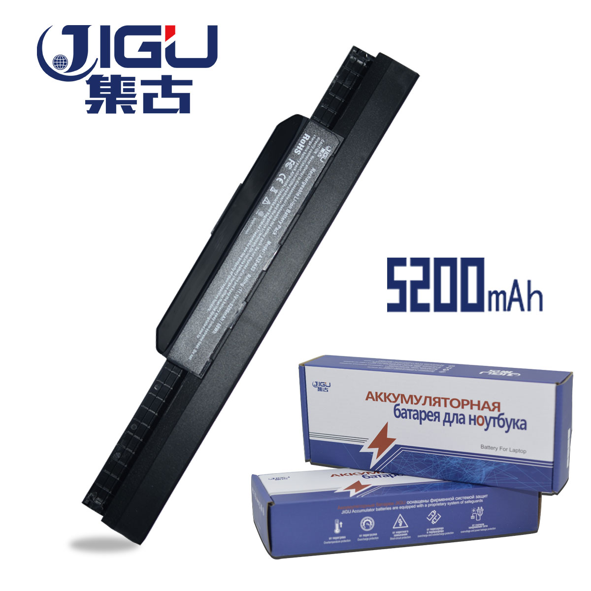 JIGU 5200 MAH Laptop Battery For Asus 6 CELLS A31-K53 A32-K53 A41-K53 A42-K53 A43 A53 A54 A83 K43 K53 P43 P53 X43 X44