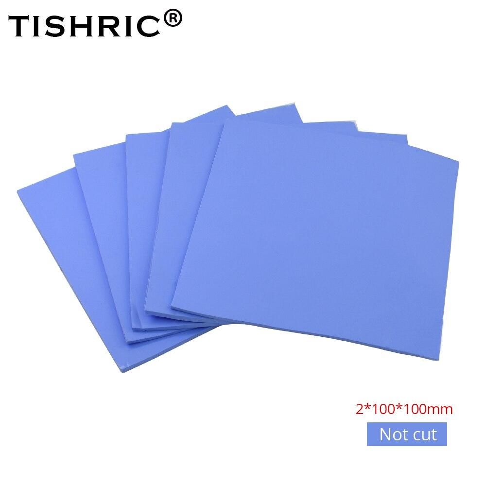 TISHRIC 100*100*2mm High Performance GPU CPU Heatsink Cooling Cooler Conductive SiliconePC Fan Cooler Pad Thermal Pads 2mm TISHRIC 100*100*2mm High Performance GPU CPU Heatsink Cooling Cooler Conductive SiliconePC Fan Cooler Pad Thermal Pads 2mm