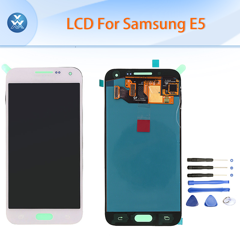 5 Black White Original LCD for Samsung Galaxy E5 E500 LCD display touch screen digitizer assembly