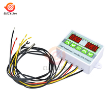 цена на Digital Thermostat 12V 24V 110V 220V Temperature Controller Dual Temperature Meter Control Switch Dual Waterproof Probe Sensor