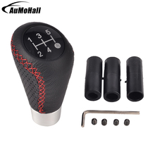 цена на Black Color Car Gear Shift Knob Red Line Gear Knobs Styling Shift Lever Knobs