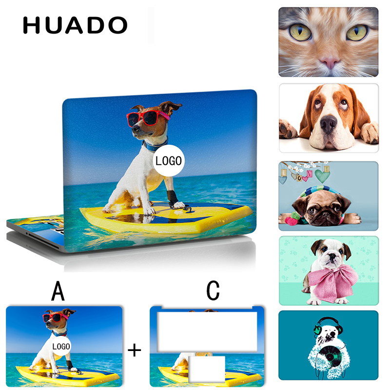Cute dog laptop vinyl stickers 15.6 notebook decals skin for macbook pro 13.3 with Touch Bar/macbook air 11 13 pro Retina 15inch