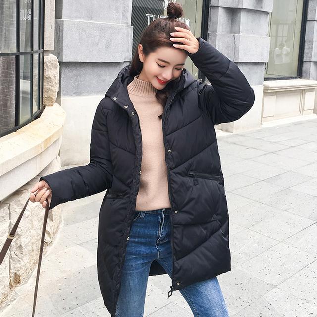 parka women 2018 Winter Jacket Women Coats Hooded Ladies Coats Female Parka Thick Cotton Padded Lining Winter Female Coats