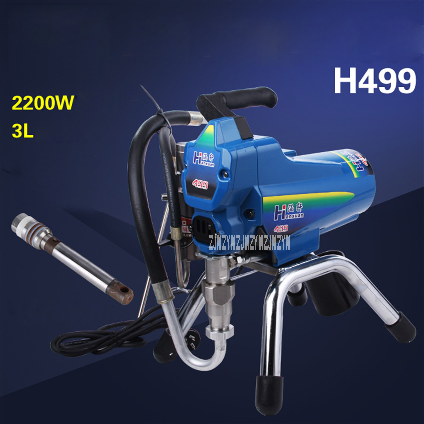 Electric Plunger High Pressure Airless Sprayer Spray Latex Paint Putty Sprayer H499 Paint Sprayer 220v/50HZ 2200W 3L/MIN 22MPA