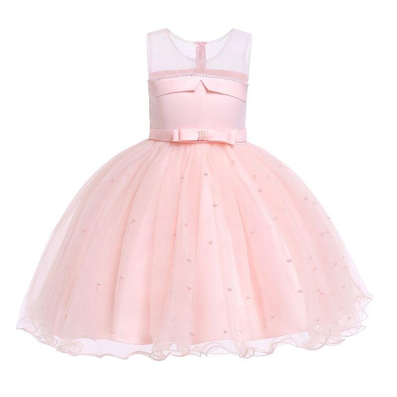 Детское праздничное платье для девочек, элегантные вечерние платья-пачки принцессы, розовые, красные, белые, тюлевые, для маленьких девочек ...