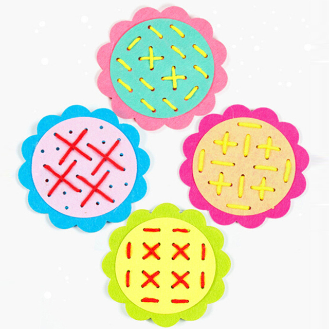 Flower Shaped Weave Cloth
