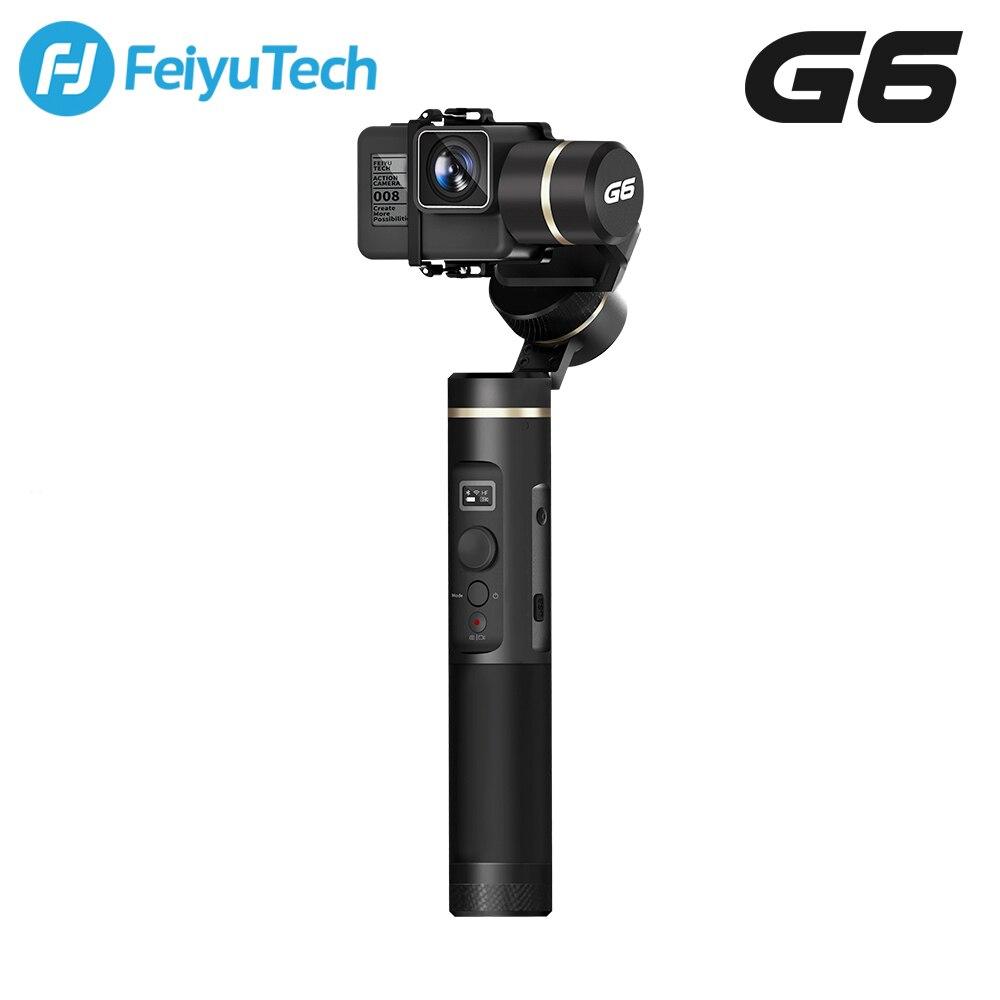 FeiyuTech G6 брызг ручной карданный Feiyu действие Камера Wi-Fi + OLED с Bluetooth Экран угол возвышения для Gopro Hero 6 5 RX0