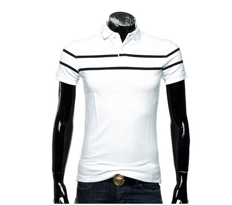 Polo Men Fashion Casual Classic Striped Golf Polo Shirt Slim Fit Summer Cotton Short Sleeve Tee Camisa Polos Homme Plus Size 3XL (15)
