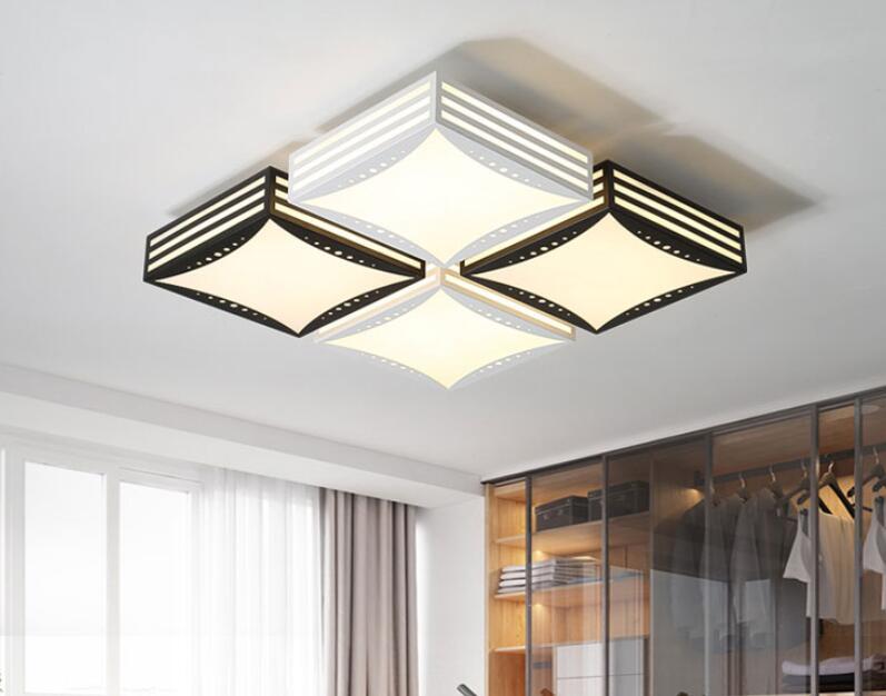 Us 1850 Nowoczesne Minimalistyczne żelaza Mody Atmosfera Kreatywny Led Sypialnia Salonu Płaskie Panelu Lampy I Lant Lampa Sufitowa Lo8169 W