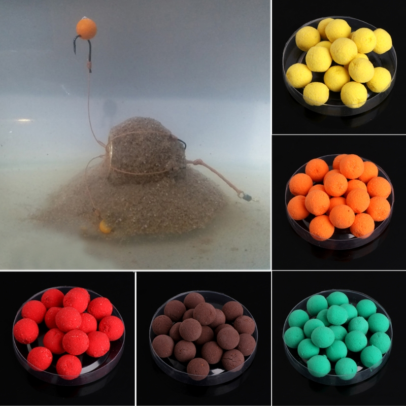 Fishing Float Beads Floating Ball Beads Feeder Carp Fishing Baits Smell Lures 7 Flavours  15g 10mm Multi-flavor
