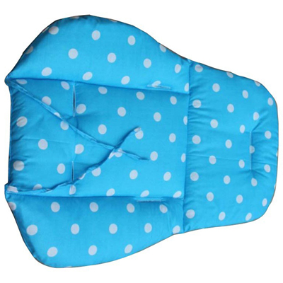 Baby Car Pad Polka Dot yoyo Stroller Cushion Child Cart Seat Cotton Thick Mats blue