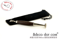 Samurai serie Authentieke Pipe Tool-8 deco Zwart Lederen Pijp Sabotage Poken Tabak Rookartikelen Cleaners t477
