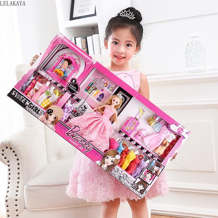 Faire semblant de jouer des filles créatives belle beauté mode jouets ensemble princesse Dressup poupée en plastique enfants cadeau décoration mignon Cosplay jouets