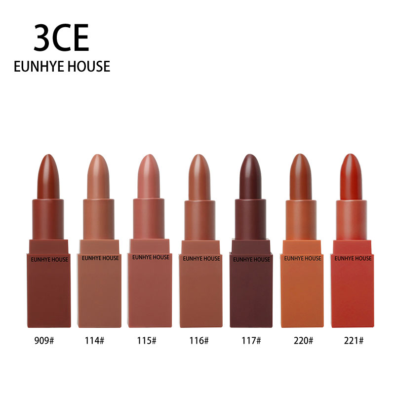 3CE EUNHYE HOUSE Lipstick Waterproof Long-lasting Lip Makeup Natural Easy To Wear Lipstick Matte Non-stick Make-up