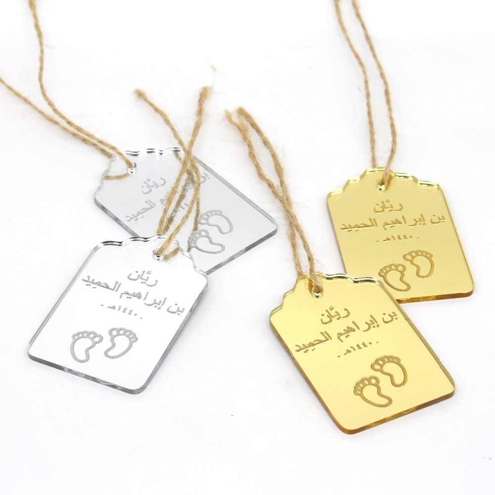 Detail Feedback Questions About 50 Pcs Personalized Laser Engraved Baby Shower Thank You Tags Gifts Labels Gold Silver Mirror Birthday Party Decor
