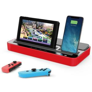 Image 5 - Base de carga multifunción Estación de enchufes, soporte con altavoz de Audio para Nintendo NS Switch/teléfono móvil/tabletas