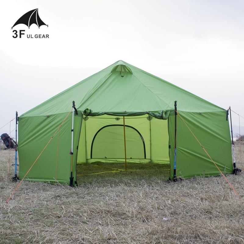 3F 7-10 Personnes Ultra-Léger Ultralarge Seule Couche Grand Espace Étanche Camping Grande Tente Gazebo Soleil Abri Barraca Tente